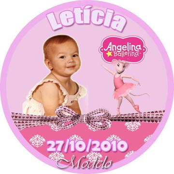 Adesivo para Latinha Angelina Ballerina