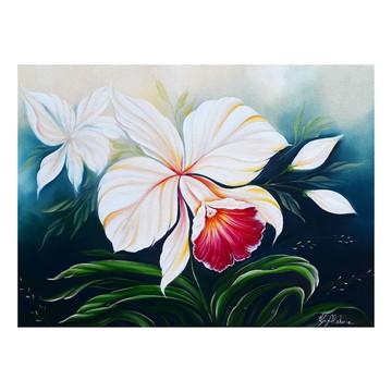 Quadro Orquídeas pintado a mão