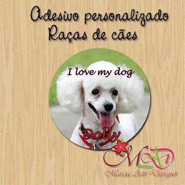 Adesivo personalizado raça de cães