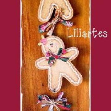 Enfeite de parede_Trio Gingerbread