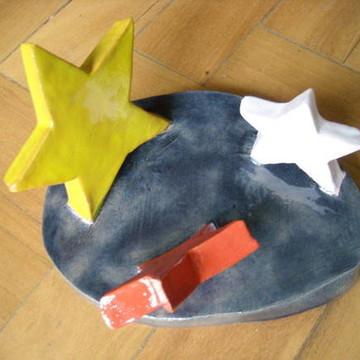Chão de estrelas cerâmica decorativa