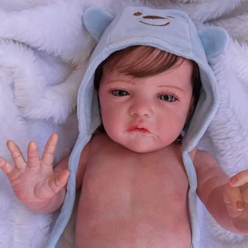 Bebê Reborn Corpo inteiro Menino Olho Azul
