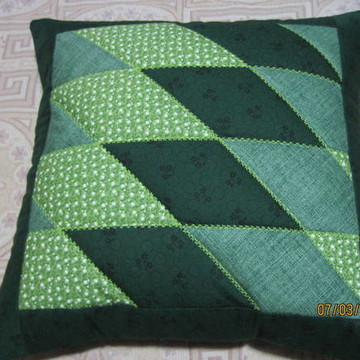 capa de almofada em patchwork