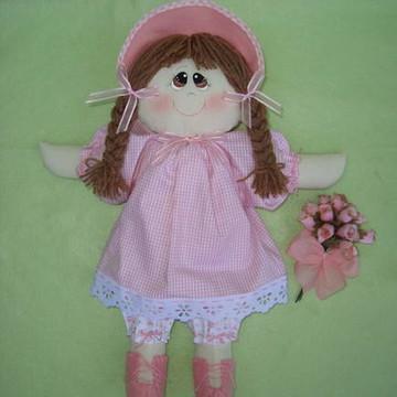 Boneca De Pano Baby com bouquet