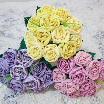 Buquê de Rosas em Tecido 15 rosas
