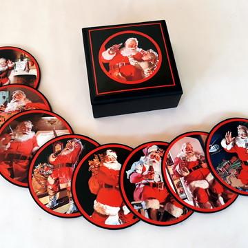 Porta Copos Papai Noel