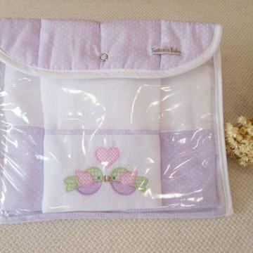 Necessaire porta fraldas lilás