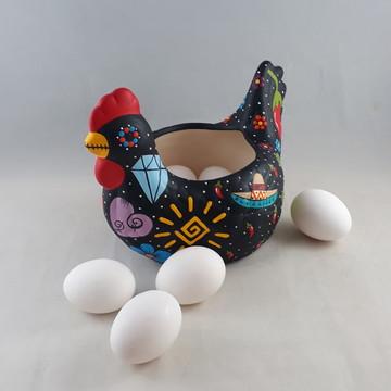 Galinha caveira mexicana porta ovos C.1760