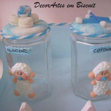 Pote higiênico ovelhinha algodão/cotonete
