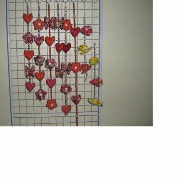 Móbile de flores e coração