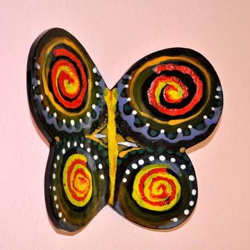 Borboleta Negra em cerâmica