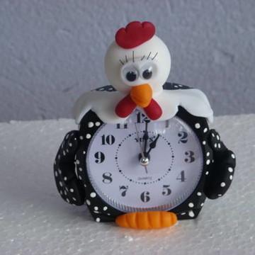 Relógio de galinha da Angola de mesa