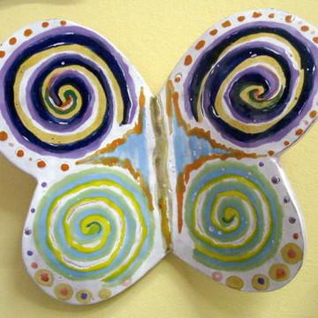 Borboleta Fantasia em cerâmica