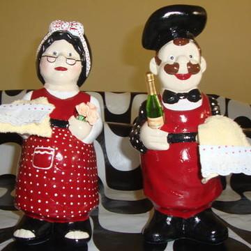 Casal de Cozinheiros- Decoração