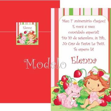 Convite Moranguinho Baby Morangos