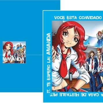 Convite Rebeldes Azul
