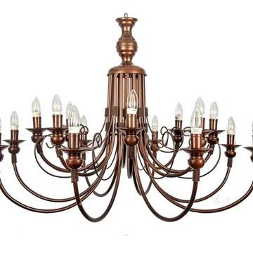 Lustre em Ferro para 16 lâmpadas