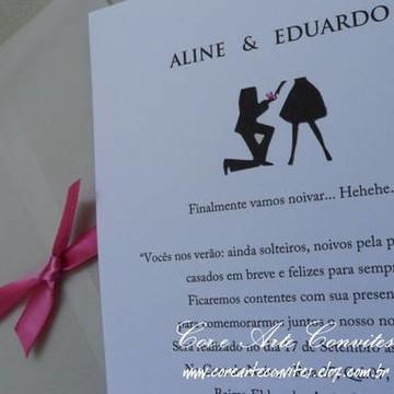 Convite Noivado 1 - Aline e Eduardo