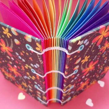 Caderno Tranças Arco Íris A6