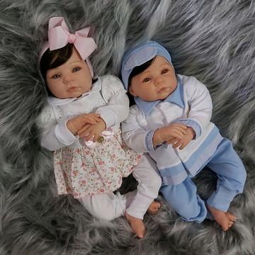 Bebê Reborn Gêmeos Menino e Menina