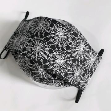 Máscara de proteção em tecido 100% algodão 3D-C4E (Adulto)