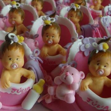 LEMBRANCINHAS NASCIMENTO bebê na sacola rosa