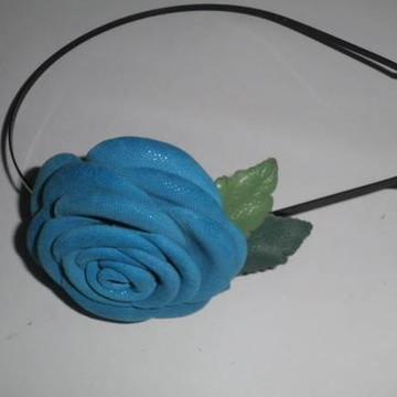 Tiaras de flor de couro