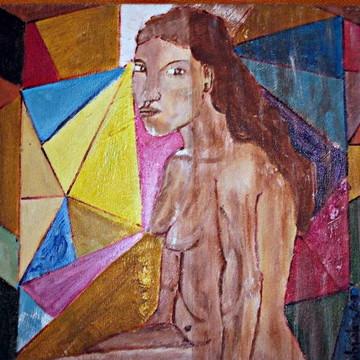 Pintura s/tela:Menina