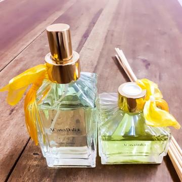 Kit com Difusor e Home Spray - Aromas: Capim Limão, Bamboo,