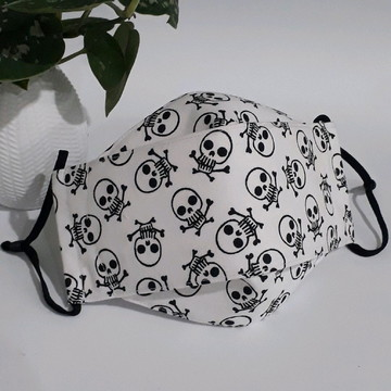 Máscara de proteção em tecido 100% algodão 3D-C4EA(Adulto)