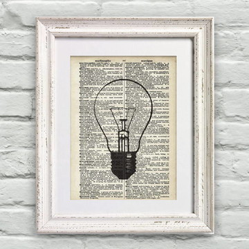 Poster Página de Dicionário Idéia