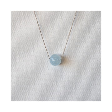 Colar de prata • QUARTZO AZUL • pedra natural