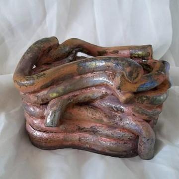 Cachepô Entrelaçados em cerâmica