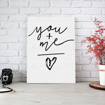 Quadro YOU + ME em MDF Decorativo Personalizado 30x45