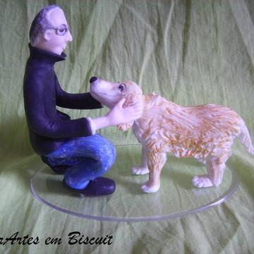 Topo Rapaz com cachorro