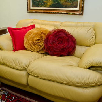 Almofada em forma de rosa