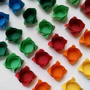 Rosa | Forminha para doces em Origami