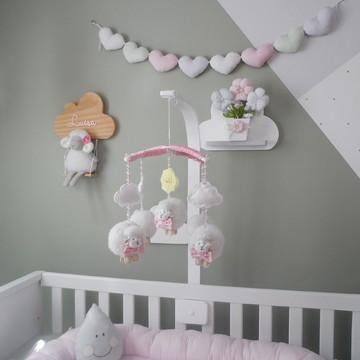 Móbile Musical giratório Ovelhas Berço Bebê