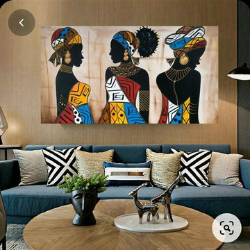 Africanas Trio Pinturas Tamanho 1.60x80cm
