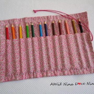 Porta Lápis-de-cor - rosa