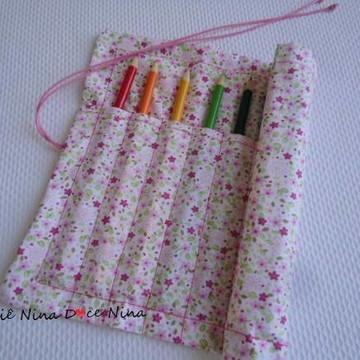 Porta Lápis-de-cor Lembrança de Natal