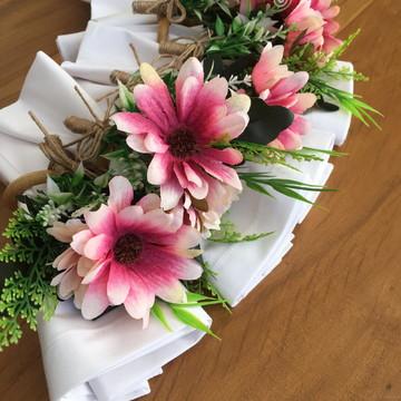 Porta Guardanapo Bouquet Margarida Rosa (unidade)