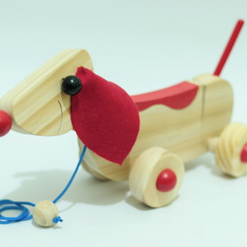 Cachorrinho Articulado (modelo novo) - Vermelho