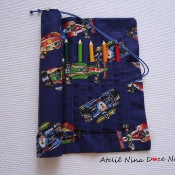 Porta Lápis de cor - Carro de corrida