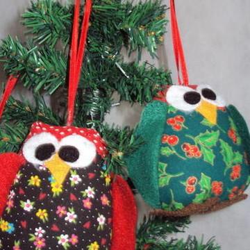 Corujinhas para  decoração natalina