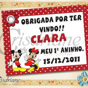 Tag Mickey e Minie Vermelho