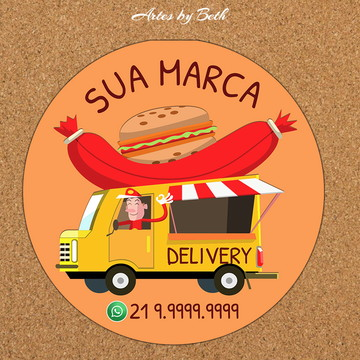Lanches Etiqueta /Logo Digital