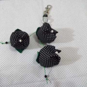 Chaveiro - petit poá preto