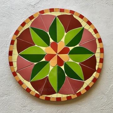 Mandala em mosaico - Azulejos