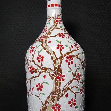 Garrafão em Mosaico Troncos e Flores